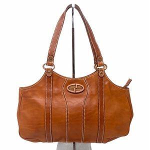 Vintage Gucci Leather Double Strap Shoulder Bag